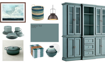 Appointed Like This: Benjamin Moore Color of the Year Aegean Teal